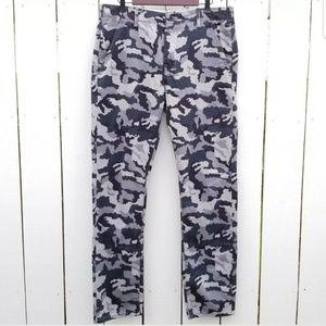 Levi's Gray Camo Twill Straight Fit Pants